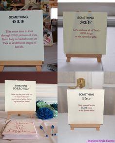 Bridal Shower Unique Theme Idea / bridal shower / event planner / wedding planner / connecticut / something borrowed / something blue / something old / something new