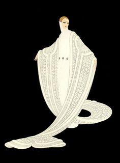 Pen finds fashion inspiration in the past.  Erte, for instance, sometimes has a retro-futuristic feel.