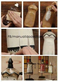 Make a jewelry stand out of an old washing up bottle, might do this with my girl. :-)