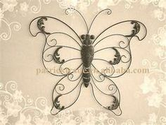 wrought iron butterfly