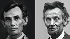 Before and after the war: The dramatic aging of Abraham Lincoln. Look how much he changed in just 7 years!