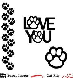 Paws Love Free Cut File