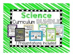 Science Curriculum Bundle Pack: Includes 7 Science Resources