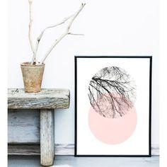 Scandinavian Art, Abstract Art Print, Art Print, Circle Print, Pink... ❤ liked on Polyvore featuring home, home decor, wall art, gray home decor, grey home decor, pink home decor, giclee poster and pink flamingos poster