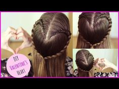 How to : DIY Valentine's Day Heart Hair Tutorial | Valentine's Day Ideas - YouTube