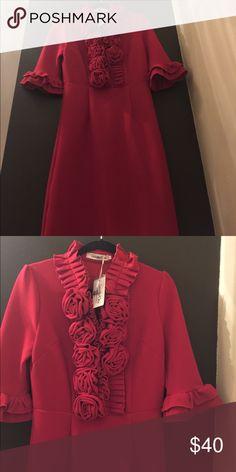 Beautiful One Dress Natalia Rosette Dress -with tag B/O modest apparel Dresses Midi