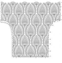 Resultado de imagem para biquini de croche com grafico e ponto abacaxi