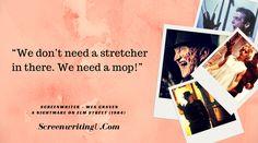 nice Great Line from Nightmare on Elm Street...  #screenwriting  #horror  #writer