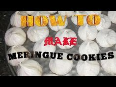 Egg white - 3 nos Vanilla essence - tsp Powdered sugar - 1 cup Bake the meringues for 60 minutes in Sorry friends, .egg white aanu use cheyyuka. Meringue Cookies, Yummy Cookies, Cooking Recipes, Tasty, Youtube, Food, Eten, Meals