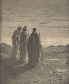 The Journey to Emmaus, Gustave Dore The Journey, Gustave Dore, Jesus Is Life, Jesus Christ Images, Bible Illustrations, Biblical Art, Faith Bible, Bible Stories, Christian Art