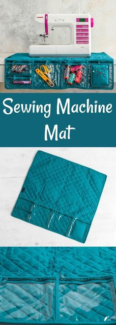 This high-quality mat ensures that your machine stays sturdy and secure – no more stopping and pushing it back into place! #craft #ad #sewing #fabric #sewingmachine