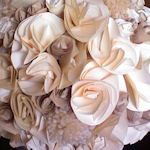 Bouquets: Made with a mix of plain paper, metallic paper and a very light textured paper.