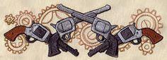 Western Steampunk - Pistols Border design (UT4947) from UrbanThreads.com