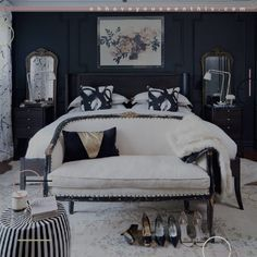 Black Bedroom Sets for Sale . Black Bedroom Sets for Sale . White Bedroom Decor, Bedroom Sets, Home, Small Master Bedroom, Wall Decor Bedroom, Black Bedroom Furniture, Modern Bedroom, Bedroom Wall, Interior Design Bedroom