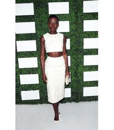 @Who What Wear - Lupita Nyong'o                 Look and learn, ladies! Nyong'o shows us how to wear a crop top and still look sophisticated.
