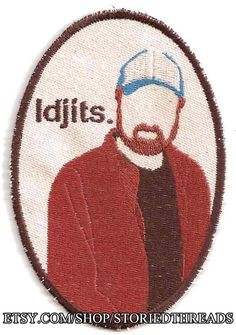 Supernatural Bobby Singer Idjits Patch by StoriedThreads on Etsy, $9.00