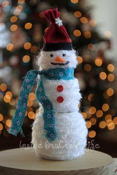 Spool-Yarn Snowman