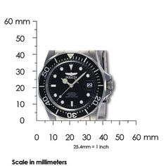 Invicta Pro Diver Men's Automatic Watch with Black Dial Analogue display on Silver Stainless Steel Bracelet 8926: Invicta: Amazon.co.uk: Watches