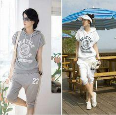 2014 autumn summer fashion sweat suits for women letter print tracksuit female duffle white sport suit set hooded Sweatshirt
