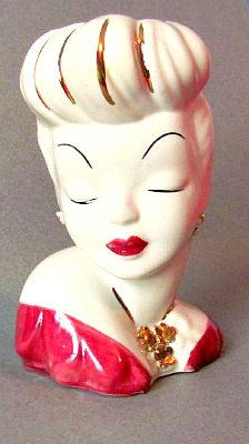 Vintage 1940's Glamour Girl Head Planter/Vase by vintagepaige, $32.00