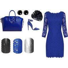 """""""Black and Blue and Jamberry"""" by jessicawise on Polyvore"""