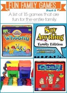Fun family games that the whole family can enjoy!