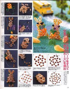 Beads News nº 6 - Chic massenet - Веб-альбомы Picasa Beading Projects, Beading Tutorials, Beading Patterns, Seed Bead Jewelry, Jewelry Making Beads, Seed Beads, Diy Ostern, Beaded Crafts, Beaded Animals