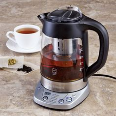 Shop Cuisinart PerfecTemp Electric Kettle & Tea Infuser, at CHEFS. Maybe it's cheaper then the breville Tea Infuser, Tea Kettles, My Cup Of Tea, Drip Coffee Maker, Kitchen Gadgets, Kitchen Appliances, Cool Gadgets, Afternoon Tea, Kitchenware