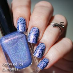 Fun Lacquer Anna stamped with bornpretty plate 03