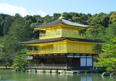 Kinkakuji Temple, or Golden Pavilion Temple in Kyoto, Japan Temple Of The Golden Pavilion, Japan With Kids, Deer Garden, Cheap Places To Visit, Kyoto Garden, Temple Pictures, Japan Travel Tips, Travel Guide, Travel Checklist
