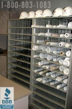 Rolled Blueprint Storage Shelving | Flat File Cabinets | Plan Drawing Rack Images