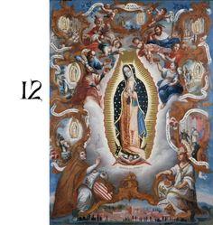 Day 12: Sebastián Salcedo  Virgin of Guadalupe  Mexico, 1779. Denver Art Museum @DenverArtMuseum de guadalup, art museum, museums, advocacion mariana, coloni art, mexico, denver, spanish coloni, bless mother