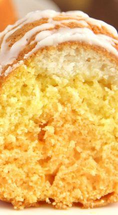 Citrus Candy Corn Bundt Cake