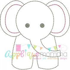 Elephant Vintage Embroidery Design � Comes in �a vintage/redwork finish in sizes: 4x4, 5x7, 6x10, �and 8x11 This design comes with a multi color option as well as a single color option in each size. There is NO FABRIC used for these designs. They are an outline ONLY.� �Formats Included: ART, DST, EXP, HUS, VIP, XXX, JEF, PES, SEW,VP3 ***FONT/LETTERING NOT INCLUDED