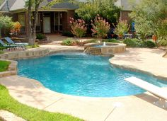swimming pool designs | ... swimming pool in kennedale texas Natural diving pool spa swimming pool
