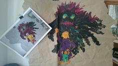 Wutmonster 1 - 2015 - Abtönfarbe auf Kraftpapier