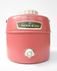 vintage pink thermos .... oh  yes, he had this