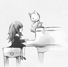 Last Ending When Alice Play the Piano and the Doll with the picture beside it