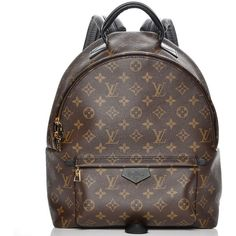 LOUIS VUITTON Monogram Palm Springs Backpack MM ❤ liked on Polyvore featuring bags, backpacks, knapsack bag, daypack bag, louis vuitton, monogrammed bags and rucksack bag