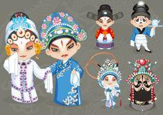 Vector cartoon characters opera (1)