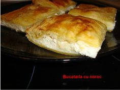 Placinta cu branza sarata si gris - Bucataria cu noroc Feta, Hamburger, Bread, Brot, Baking, Burgers, Breads, Buns