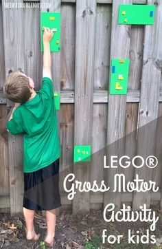 The Inspired Treehouse - This Lego® Gross Motor Activity is a great way to get kids moving and practicing skills like balance, coordination, and more!