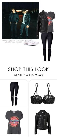 """the dolan twins"" by leisharomano ❤ liked on Polyvore featuring La Perla, Vero Moda, Witchery and Converse"