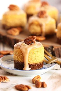 Pumpkin cheesecake spiked with bourbon and topped with pecan praline....the only fall dessert you'll ever need. | The Suburban Soapbox