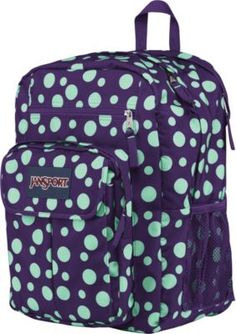 Shop Staples® for Jansport Digital Student Backpack, Purple Night/Mint Dots and enjoy everyday low prices. Get everything you need for a home office or business right here.