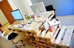 pallet-desk-glass-top - Home Decorating Trends - Homedit