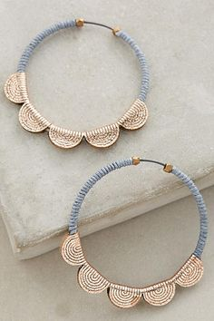 Scalloped Hoops - anthropologie.com