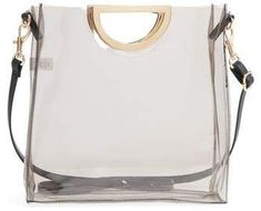 BP. Mini Translucent Metal Handle Bag