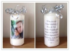 Personalised wedding Gift Candle ~ gifts for bride and groom ~ choose own photo and wording ~ gift wrapped ~ wedding memento ~ home decor by FunkyDesignsbyDi on Etsy Candle Gifts, Wedding Wraps, Personalized Wedding Gifts, Bride Gifts, Perfume Bottles, Groom, Gift Wrapping, Candles, Creative