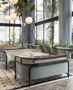 GamFratesi Furniture Decorate the Harlan+Holden Glasshouse Café - InteriorZine
